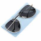 Fashionable UV400 Sunglasses - Silver + Black