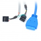 USB 3.0 + USB 2.0 + 3.5mm Jack Front Panel Expansion Cable for Computer Chassis E-Q5I, Q6I, K3, K3I