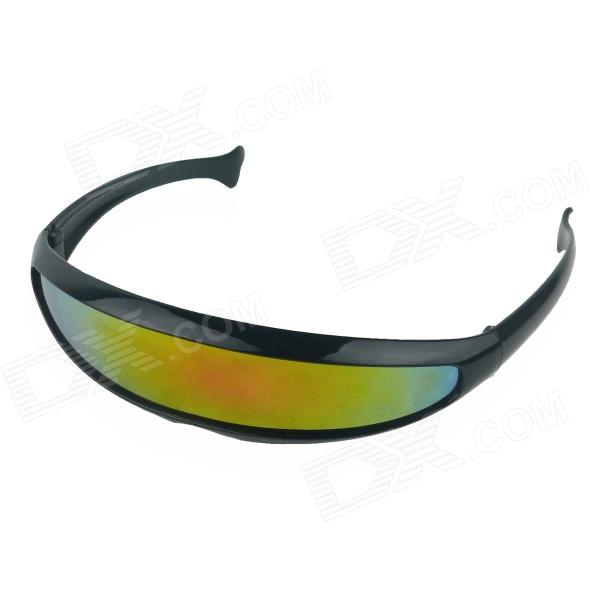 Fishtail Wind Sand UV400 Riding Glasses - Black