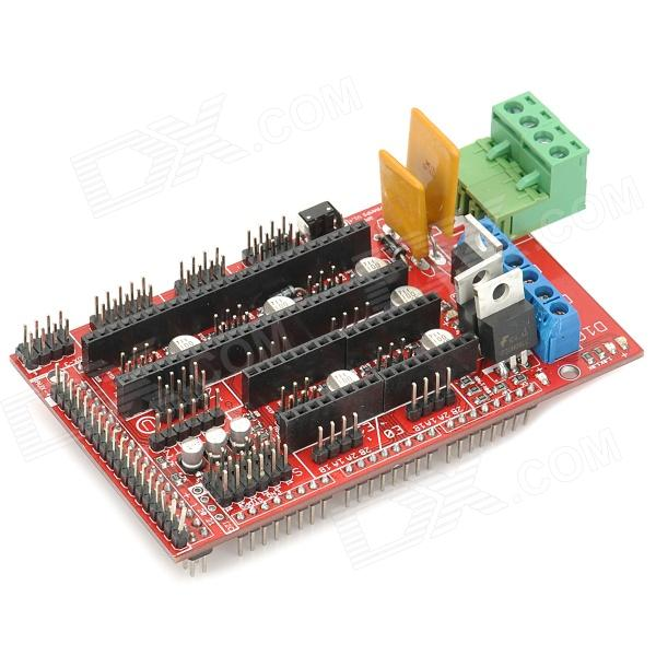 Reprap 3D Ramps Shield V1.4 Motor Driver Module / Expansion Board for 3D Printer - Red + Black3D Printer Parts<br>ModelRAMPSQuantity1Form  ColorBlackMaterialFR4English Manual / SpecYesPacking List1 x 3D Ramps Motor Driver Module / Expansion Board<br>