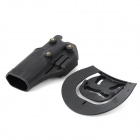 Convenient Quick-release Nylon + Plastic Waist Pistol Holder for G17 - Black