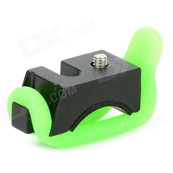 Buy Aluminum Alloy Bike Headlamp Mount Holder w/ Silicone Rings - Black with Litecoins with Free Shipping on Gipsybee.com