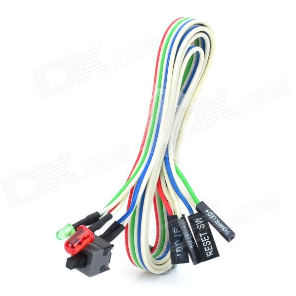 Computer Box Switch Cable w/ Indicators - Multicolored (60cm)