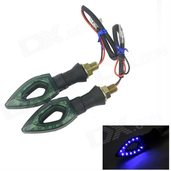 0.2W 60lm 450nm 12-3528 SMD Motorcycle Blue Light Steering Lamp (12V/2PCS)