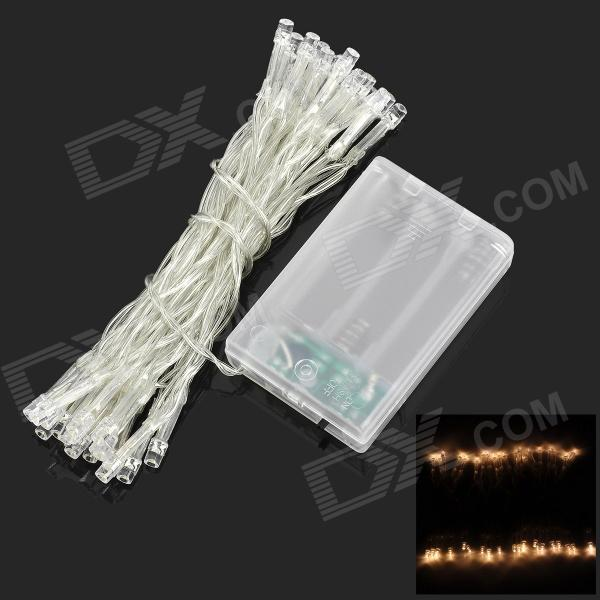 2W 3500K 40-LED Warm White Decorative String Light - White (4M)