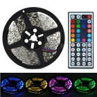 72W-4000lm-300-5050-SMD-LED-RGB-Light-Decorative-Strip-w-Mini-Control-Black-2b-White-(5m)