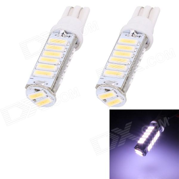 T10 10W 750lm 20 x SMD 7020 LED weißes Licht Autolenkung / Signal / Ecklampe-(DC 12V / 2 PCS)