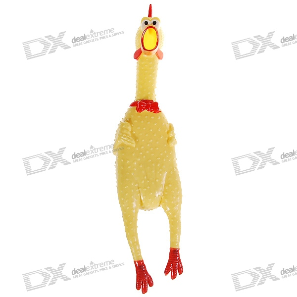 Buy Stress-Reliever Screaming Hen Squeezy Toy (Large) with Litecoins with Free Shipping on Gipsybee.com