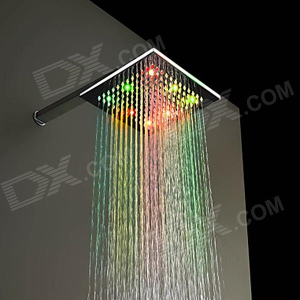 8 inch RGB Colors Changing LED Brass Square Top Shower Head -