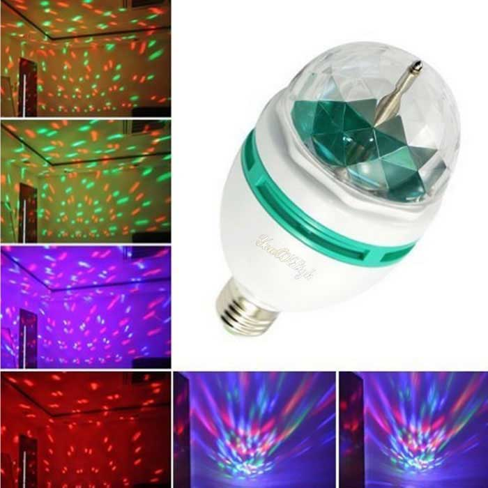 YouOkLight YK0401 360 Rotatable E27 3W RGB Colorful LED Bulb (85-260V)