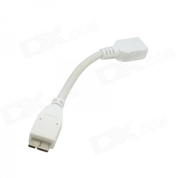 CY U3-119-WH White USB 3.0 Micro 9-Pin Male to 3.0 Female OTG Cable for Samsung Galaxy Note 3 N9000