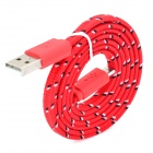 USB to Micro USB Data/Charging Woven Nylon Cable for Samsung / HTC / BlackBerry / Sony - Red