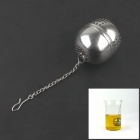 Ball Style Stainless Steel Tea Spoon Strainer Filter - Silver