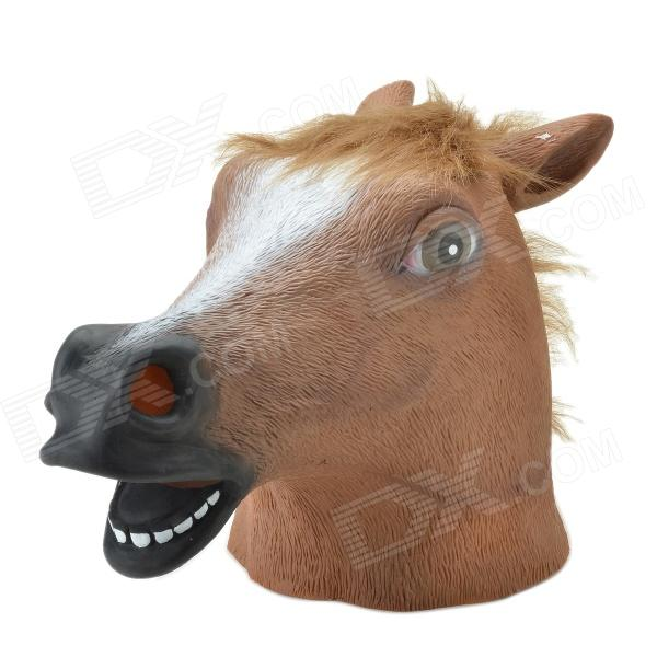 Buy SYVIO Horse Style Mask - Brown + Black + White with Litecoins with Free Shipping on Gipsybee.com