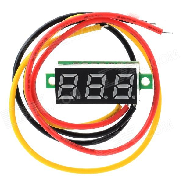 W05 0.28 3-digit Red Light DC 0~100V Digital Voltmeter HeaderDIY Parts &amp; Components<br>ModelW05Quantity1Form  ColorBlackMaterialPCBEnglish Manual / SpecYesPacking List1 x Voltmeter<br>