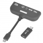 5-in-1 Micro USB MHL zum HDMI-Kabel w/ OTG-Camera Connection Kit / 11-pin Micro-USB-Adapter - Schwarz
