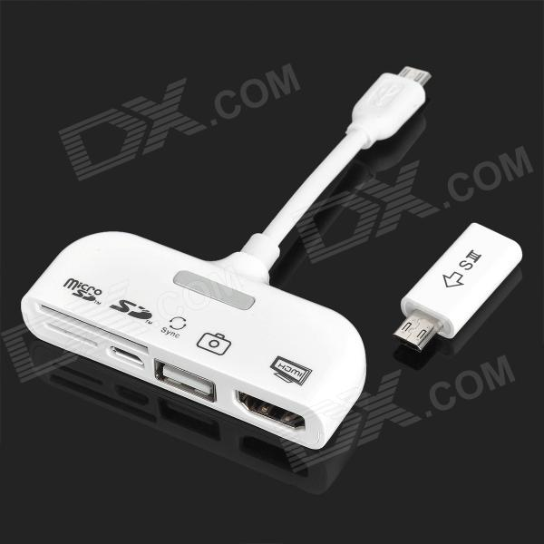 5 In 1 Mhl To Hdmi Connection Kit White Free Shipping Dealextreme