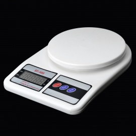 """SF-400 Household Electronic 2.2"""" LCD Food Baking Scale - Black + White + Grey (0.1g / 1000g)"""