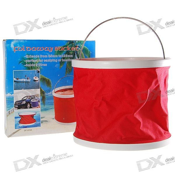 9-Litre Foldable Water Bucket (Red)