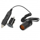 Double-cigare USB adapteur allume-cigare + prise allume pour Ipad / Iphone - Noir