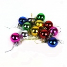 Light Bulb Decoration for Christmas Tree - Red + Silver + Golden + Blue + Green + Purple (12 PCS)