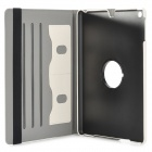 Protective 360 Degree Rotation Fiber Leather + Plastic Case w/ Auto Sleep for Ipad AIR - Beige