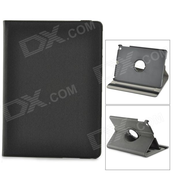 Protective 360 Degree Rotation Fiber Leather + Plastic Case w/ Auto Sleep for Ipad AIR - BlackIpad Cases<br>ModelsiPadQuantity1MaterialPlasticForm  ColorBlackCompatible ModelsOthersDesignOthersTypeLeather Cases,OthersAuto Wake-up / SleepYesOther FeaturesCanPacking List1 x Protective case<br>
