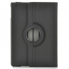 Protective 360 Degree Rotation Fiber Leather + Plastic Case w/ Auto Sleep for Ipad AIR - Black