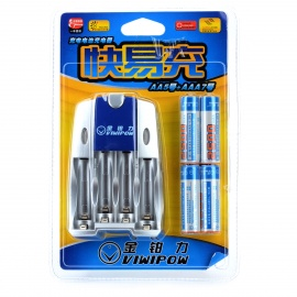 VIWIPOW-US-Plugs-Battery-Charger-2b-4-2500mAh-Rechargeable-AA-Battery-Set-Silver-2b-Blue