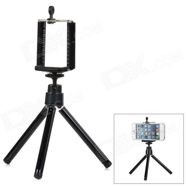 Universal Large Desktop Cellphone Holder + TrIpod for Samsung / HTC / Iphone 4S / 5 + More - Black