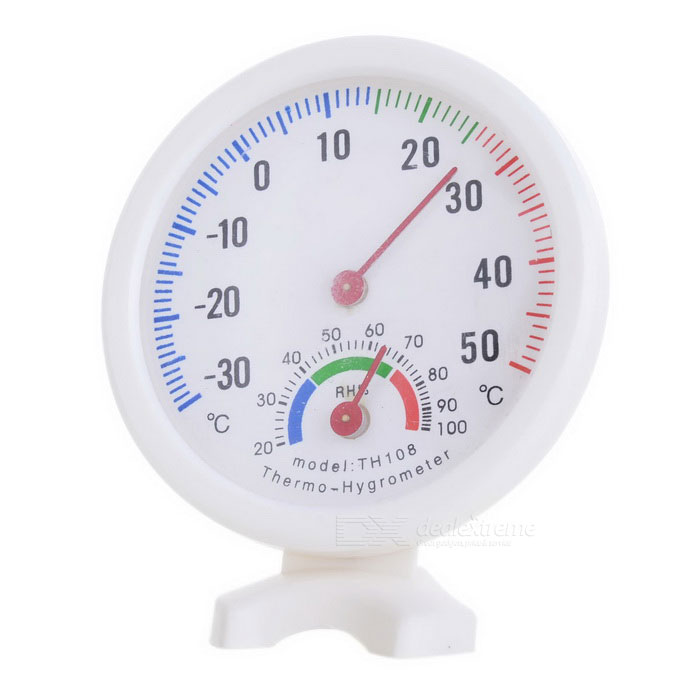 TH108 Nice-looking Indoor Hygrometer and Thermometer - White