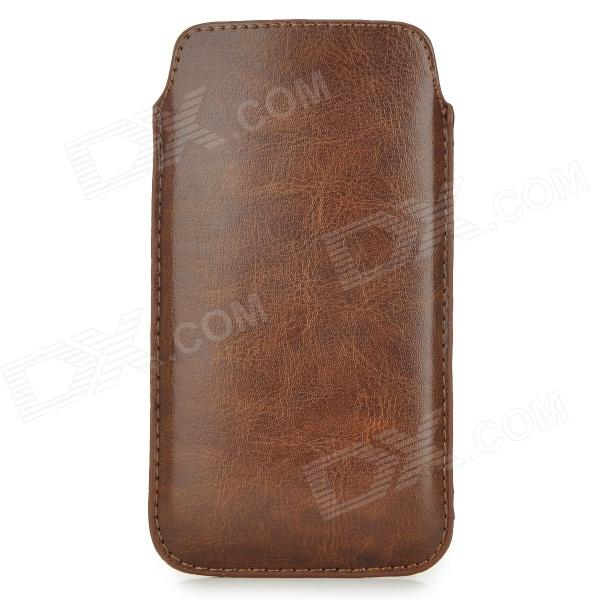 Protective PU Leather Pouch Case for Samsung Galaxy S4 - BrownLeather Cases<br>ModelsSamsungMaterialPUForm  ColorBrownQuantity1Compatible ModelsSamsungOther FeaturesProtectPacking List1 x Protective pouch<br>