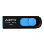 ADATA UV128 USB 3.0 Flash Drive Disk - Black + Blue (64GB)