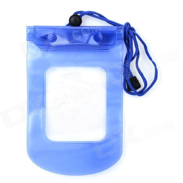 Buy Waterproof Bag Pouch for Cellphone / Digital Camera / Certificate - Translucent Blue with Litecoins with Free Shipping on Gipsybee.com