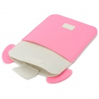 Mini0322 Super Thin Cute Cartoon Piggy Style Felt Fabric Pouch for Ipad MINI - White + Pink
