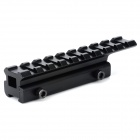 Dovetail Rail Extension 11mm to 20mm Weaver Adapter - Black