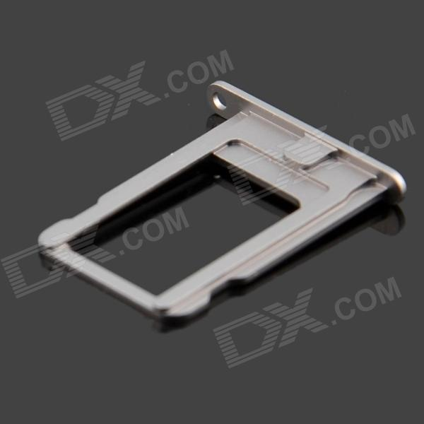 Replacement Aluminum Alloy SIM Card Tray for Iphone 5S - Grey