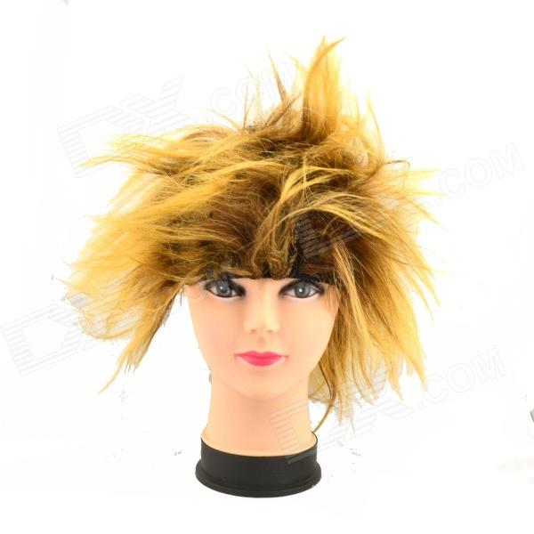 Buy Creative Hedgehog Hair Wig - Black + Golden with Litecoins with Free Shipping on Gipsybee.com