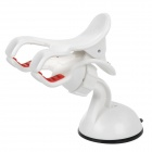 360 Degree Rotatable Universal Car Mount Holder w/ Suction Cup for Iphone + GPS - White + Red