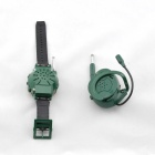 guardare e walkie talkie auricolare - verde (6 * AG10)