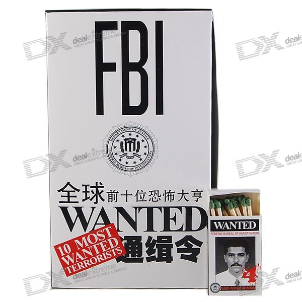 FBI Series Match Sticks (10-Box Pack)