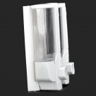 A079 Dual-Head 350ml * 2 Plastic Liquid Soap & Sanitizer Dispenser - White + Transparent