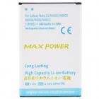 "3.8V ""3800mAh"" Li-ion Battery + US Charger + EU Adapter for Samsung N9002 + More - Black + White"