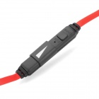 OVLENG M2 3.5mm M-M Audio Cable w/Microphone Control-Black+Red
