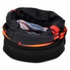 NUCKILY Multifunktions Outdoor Sports Nahtlose Kopftuch - Schwarz + Orange