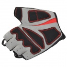 NUCKILY NS3552 Outdoor Dacron + Spandex Gloves for Cycling / Hiking - Black + Red (Size L / Pair)