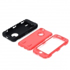 Stylish Protective 3-part Plastic + Silicone Body Case for Iphone 5C - Black + Deep Red