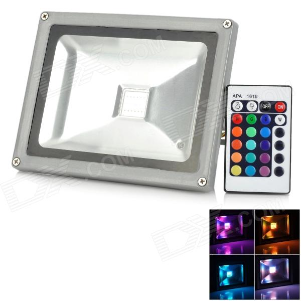 Buy CJGD05 20W 1200LM RGB LED Project / Flood Lamp - Silver (AC 100~245V) with Litecoins with Free Shipping on Gipsybee.com