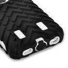3-in-1 Cool Protective Plastic + Silicone Case for Iphone 5C - Black + White