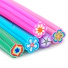 KQH036-5 40-in-1 Plum Flower Pattern DIY Polymer Clay Decorative Strips Set - Multicolored